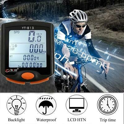 Wireless Bike Cycling Bicycle Cycle Computer Odometer Speedometer Backlight Hot