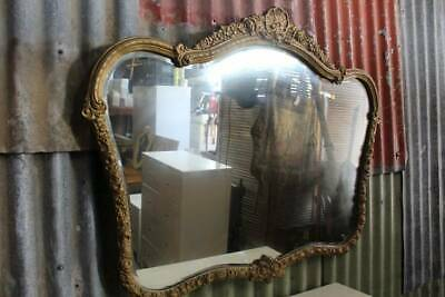 A Vintage Ornate Gilt Wall Mirror with Bevelled Edging 109cm