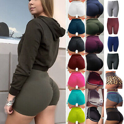 Womens Compression Yoga Shorts Butt Lift Booty Sports Gym Fitness Running Pants