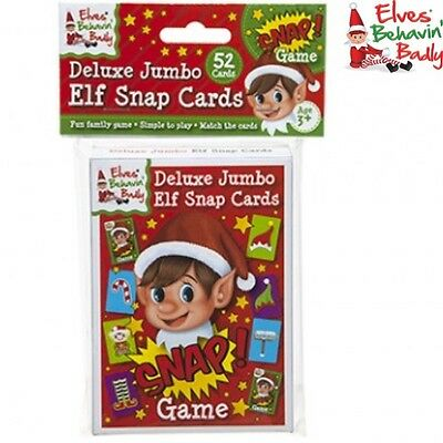 CHRISTMAS NAUGHTY ELF PROP JUMBO 52pc SNAP CARDS GIFT ELVES BEHAVIN BADLY
