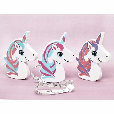 "Hemline Retractable Tape Measures Unicorns - 40""/100cm - Gift Stocking"
