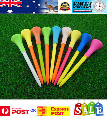 1000 Plastic & Rubber Cushion Top Golf Tees 83mm - Pro Shop Special - Hi Quality