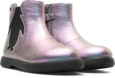 Camper Duet Girls Casual Boots In Multi Colour Silver (K900183-002)