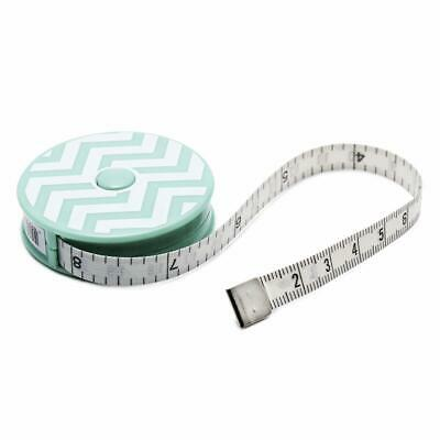 "Hemline Retractable Tape Measures Green Chevrons - 60""/150cm - Gift Stocking"