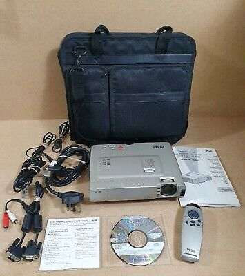 Plus U3-810SF Data Presentation Projector DLP With Remote, Leads & Carry Bag