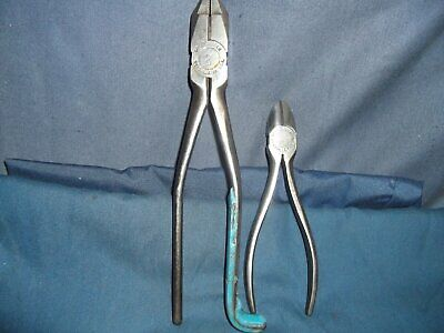 "Channellock Pliers 2pc Lot)Linesman-Ironworker 9"",#350-S)Diagonal Cutter 6"",#436"