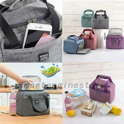 Kids/Adults Cool Bag Lunch Box Summer Winter Food Insulated School Office