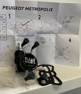 (NEUF) Support SMARTPHONE PEUGEOT METROPOLIS / PULSION RAM X-Grip (Ref:A08004)