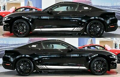 2X Car silhouette stickers for Ford Mustang 1971-1973 Fastback classic muscle