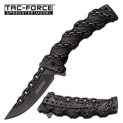 New Tac-Force Assisted 3.5 in Blade Stonewash Stainless Handle