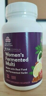 Ancient Nutrition, Dr. Axe Formula, Women's Fermented Multi, 90 capsules