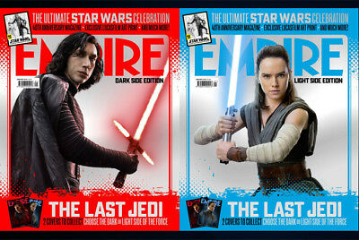 EMPIRE January 2018 The Last Jedi Kylo Ren Adam Driver REY Daisy Ridley SEALED