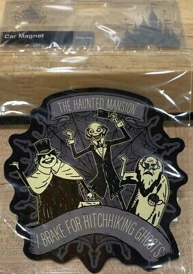 """Disney Parks Haunted Mansion 50th Anniversary Hitchhiking Ghosts Car Magnet 5"""""""