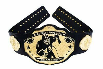 Fantasy Football Championship Belt Trophy Prize. Stiff-Arm Black/Gold