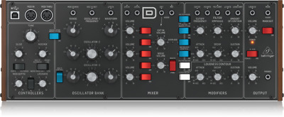 Behringer Model D Analog Synthesizer with 3 VCOs, Ladder Filter, LFO & Euro