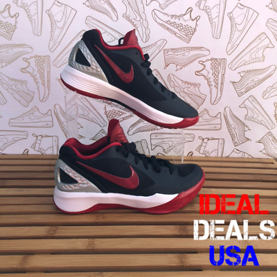 Womens Nike Volley Zoom Hyperspike Volleyball Shoes Size 5 Black Red 585763 061
