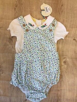 Little Bird By Jools Newborn Romper Flower Embroidered Beautiful BNWT Outfit 🌷