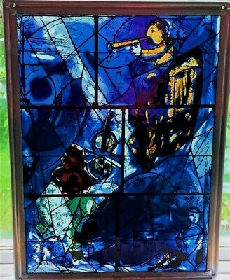 Marc Chagall Stained Glass Window Art Inst. of Chicago Suncatcher Metal Frame