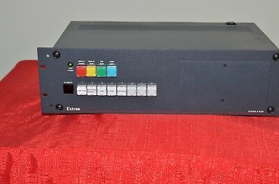 Extron audio Video Router System 8 Plus pro audio rack mounted control panel
