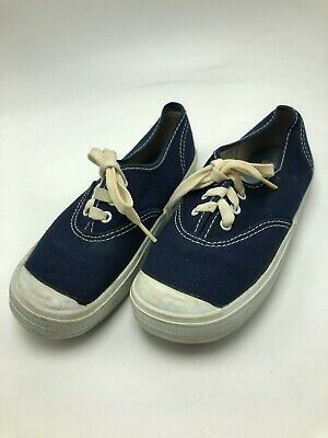 Vintage 1970s Uniroyal Canvas Tennis Shoes Blue Kids Toddler 11 USA