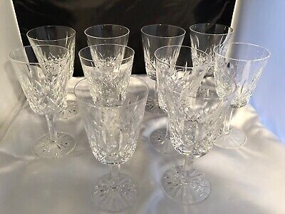 """Waterford Crystal Lismore Water Goblets, 7"""" high, 11 available"""