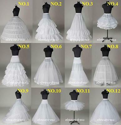 Bridal Petticoat White HOOP A LINE Crinoline Slips Underskirt for Wedding Dress