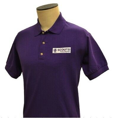 70059L 24th WORLD SCOUT JAMBOREE 2019 - COTTON POLO SHIRT ADULT LARGE NEW!