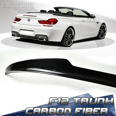 For BMW F12 6-Series Convertible V Trunk Spoiler 640i 650i M6 Carbon
