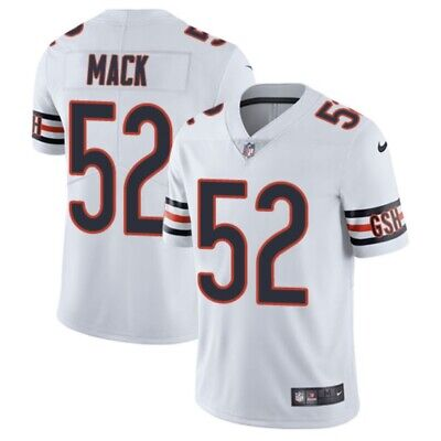 BRAND NEW stitched Khalil Mack Chicago Bears men's white jersey #52 size S-2XL