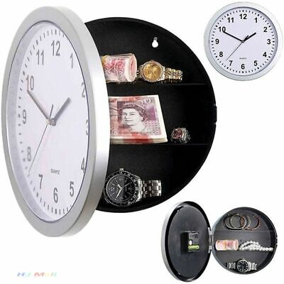Creative Wall Clock Hidden Secret Storage Container Home Decor Office Stash