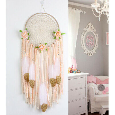 DIY Handmade Boho Dream Catcher Kit Craft Ornament for Wedding Wall Hanging Deco