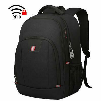 Laptop Backpack,15.6 Inch Laptop Rucksack for Men and Women Anti Theft-Black