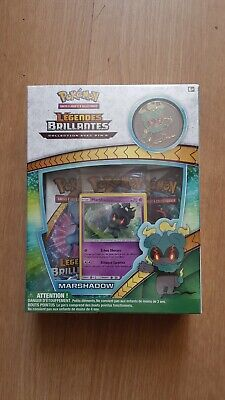 Coffret Pokemon Legende Brillante Marshadow Pins 100% Neuf Sous Blister