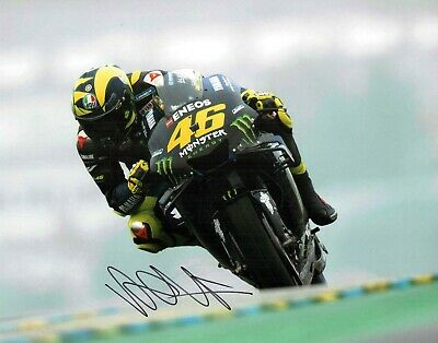 VALENTINO ROSSI Autograph 2019 SIGNED 14x11 Yamaha Photo 7 AFTAL COA VR46 Vale