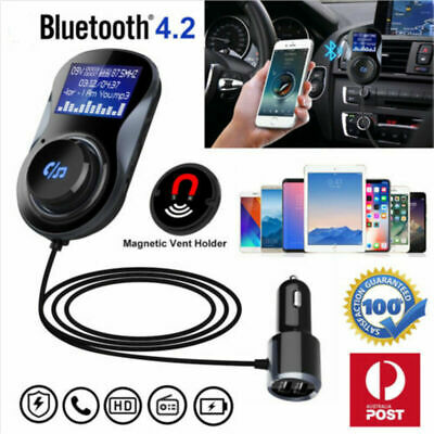 bluetooth Voiture Transmetteur FM Kit MP3 Sans fil USB Chargeur Mains Libre LCD