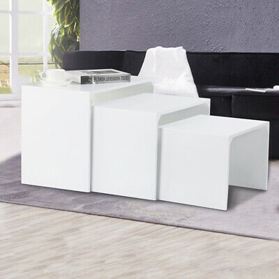 Nest of 3 Coffee Tables Side End Table Set Living Room Furniture Coffee Table