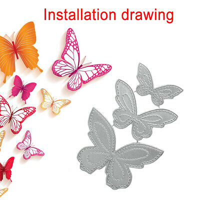 Butterfly Metal Cutting Dies Stencil Scrapbooking Paper Card Decor Embossing DIY