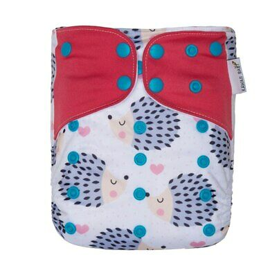 KaWaii Baby One Size Printed Snap Cloth Diaper One Size Adjustable  8-36 lbs