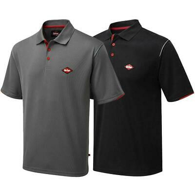 Lee Cooper Workwear Mens Classic Short Sleeve Wicking Quick Dry Polo T-Shirt Top