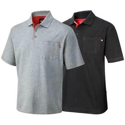 Lee Cooper Workwear Mens Pocket Short Sleeve Pique Classic Polo Shirt Work Top