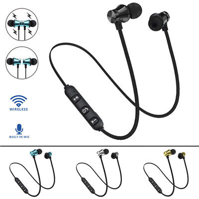 In Ear Earbud Cuffie Bluetooth 4.2 Stereo Auricolare Wireless Magnet Nuovo