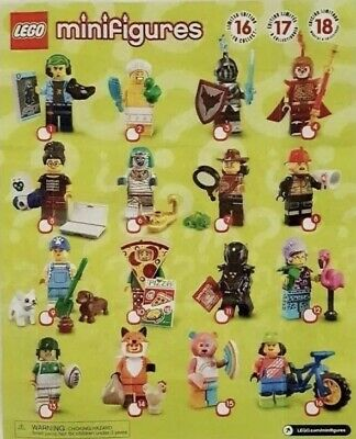 LEGO Series 19 Minifigures Collectible Complete Set of 16 71025