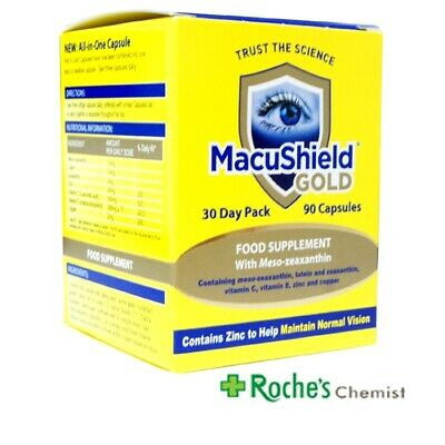 Macushield Gold Capsules x 90 for Age Related Macular Degeneration