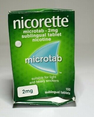 NICORETTE 2mg Microtab Pack of 3 X 100 Tablets (300 Tablets) Exp. Date 02/2021