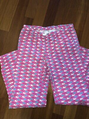 Vineyard Vines Women's Pajama Pants Whales Pink XS X-SMALL EUC