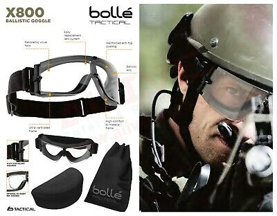 Bolle X800 Tactical Ballistic Goggles - Airsoft Paintball Assault Military Army
