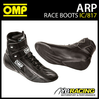 Ic/817 Omp Kart Advanced Rainproof (Arp) Karting Boots Black Ankle Height