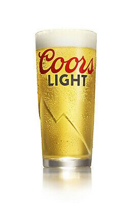 Personalised Engraved Branded Pint Coors LIGHT Beer Glass + Gift Box Birthday