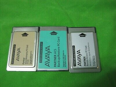 AVAYA Partner Voice Messaging PC Card Large & Remote Access PC Card   LOT BB190