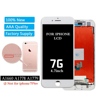 OEM Apple iPhone 7 Replacement LCD Screen Digitizer Assembly White A1778 A1779